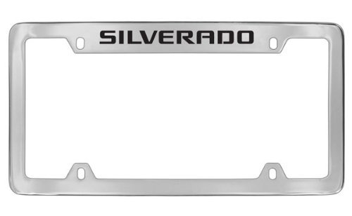 chevrolet-silverado-chrome-plated-metal-top-engraved-license-plate-frame-holder-by-chevrolet