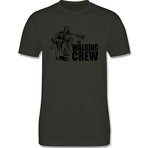 JGA Junggesellenabschied - The Walking Crew - Zombie JGA - Herren Premium T-Shirt Army Grün