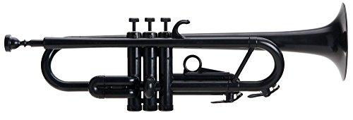 Classic Cantabile Tromba ABS Kunststoff Trompete (11,6 mm Bohrung, Monel-Ventile, Gewicht nur 550 g, inkl. 2 Mundstücken, Tasche, Ständer und Reinigungsset) schwarz
