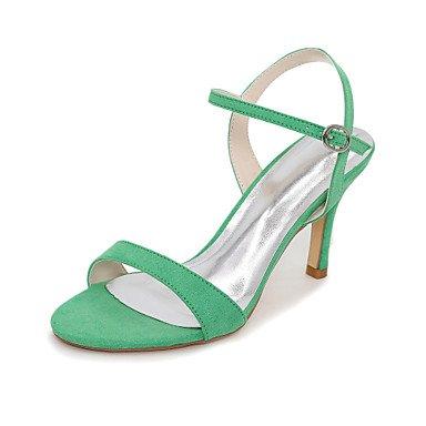 CH&TOU Da donna-Sandali-Ufficio e lavoro / Formale / Casual-Others-A stiletto-Velluto-Nero / Blu / Verde / Rosso / Tessuto almond Green