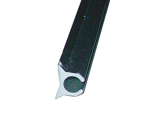 Preisvergleich Produktbild (8, 25€ / m) 2x Kederschiene einfach für Keder von 6-9mm,  2m ,  Alu eloxiert.