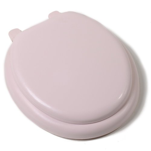 Comfort Seats C3B5R221 Deluxe Soft Toilet Seat with Wood Cores, Round, Pink by Comfort Seats (Wc-sitz Round Soft)