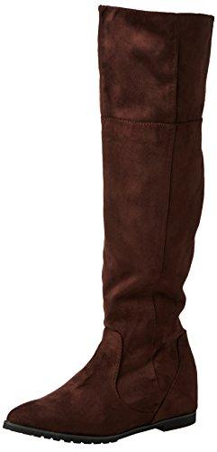Spot OnF4366 - Stivaletti sopra al ginocchio donna , Marrone (Brown (Brown M/F)), 39.5