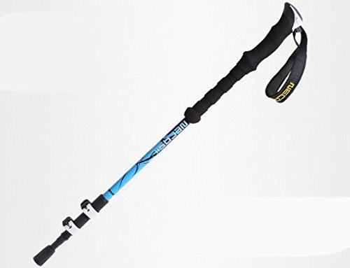 GG@TT Klettern Einkommen Teile lock ultra-light Carbon klettern Krücken carbon Abschnitt III Einkommen klettern, Schwarz Blau, 65~135 cm (Verbrauchsmaterial Teil)