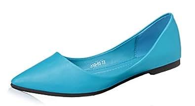 Damen Modisch Viele Farbe Geschlossen Spitze Zehe Slippers Ballerinas Gelb 37 EU Easemax qqMFTc