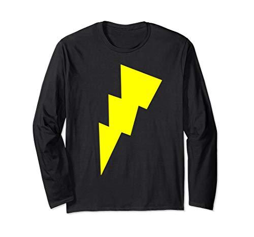 Bolt Licht Kostüm - Lustiges Cool Gelb Blitz Bolt Zeichen Lichter Race Running Langarmshirt