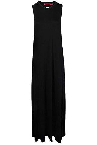 Black Womens Lola Twist Back Detail Maxi Dress - 14