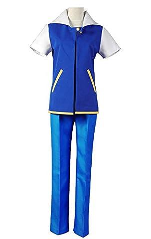 Ash Ketchum Ketchum Cosplay Kostüm Blau Herren XL