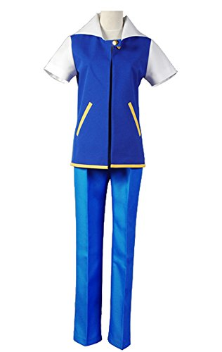 Ketchum Erwachsene Ash Kostüm (Ash Ketchum Ketchum Cosplay Kostüm Blau Herren)