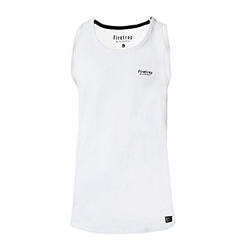 Mens Firetrap Casco Muscle Vest Sleeveless T Shirt Gym Casual Tank Top