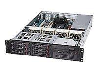 Super Micro CSE-822T-400LPB Server Gehäuse 2U inkl. 400W (6x 3,5 SATA, 1x 5,25 HDD) schwarz
