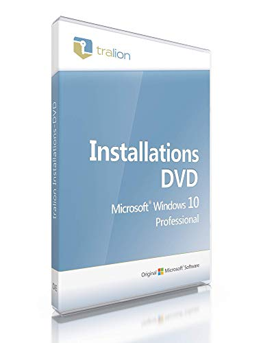 Microsoft® Windows 10 Professional 64bit, inkl. Lizenzkey, inkl. Tralion DVD, inkl. Lizenzdokumente, Audit-Sicher, deutsch - Windows 10 Pro