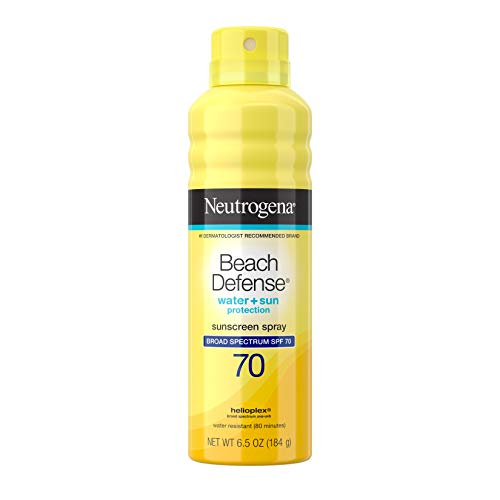 Neutrogena Beach Defense Spray Sunscreen Broad Spectrum SPF 70, 6.5 Oz by Johnson & Johnson