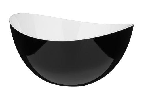 Premier Housewares 0805290 Ciotola Grande di Plastica, Nero/Bianco