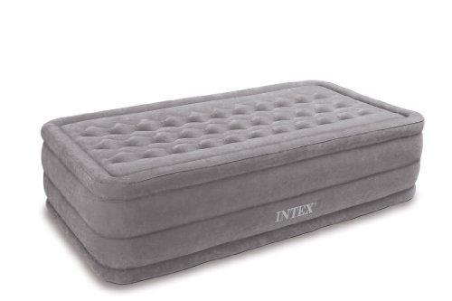 Intex Ultra Plush Luftbett mit integrierter elektrischer Pumpe, Twin, Bett Höhe 45,7cm