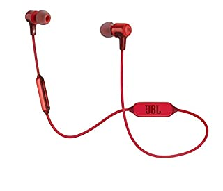 JBL E25BT - Auriculares Intraaurales Inalámbricos, 102dB, Rojo (B01M5BUS65) | Amazon Products