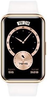 ساعة ذكية من هواوي فيت اليجانت، اطار الساعة من الستانلس ستيل، شاشة AMOLED 1.64 انش، عمر البطارية 10 ايام، مراق