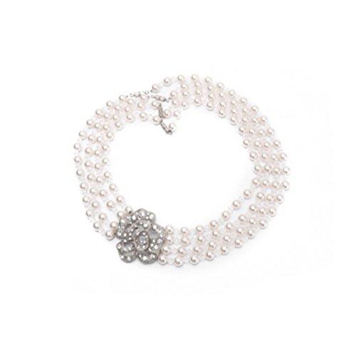 Halskette, Audrey Hepburn - Frühstück bei Tiffany, Multi-Strang Perlenkette (Girls 'Größe, über 7 Jahre)