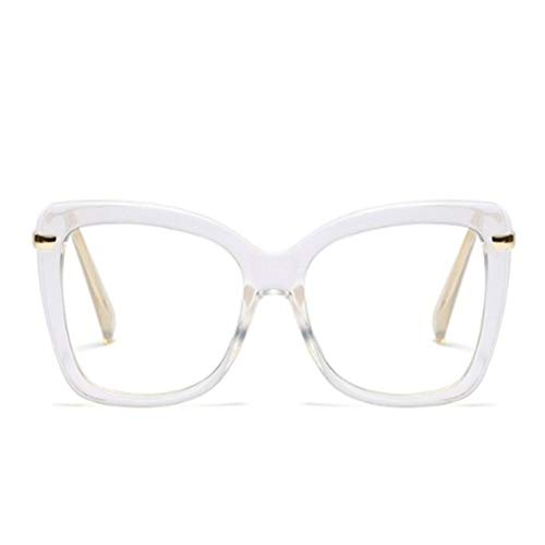 XCYQ Brillengestell Damen Brillenfassungen Square Frauen Optische Brillen Fashion Eyewear, F (Retro Square Nerd Brille)