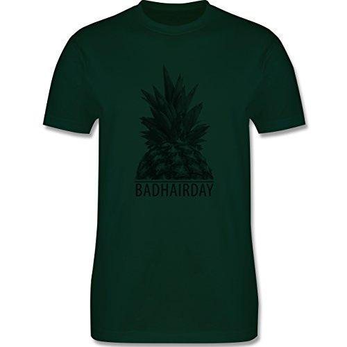 Statement Shirts - Badhairday - Ananas - Herren Premium T-Shirt Dunkelgrün