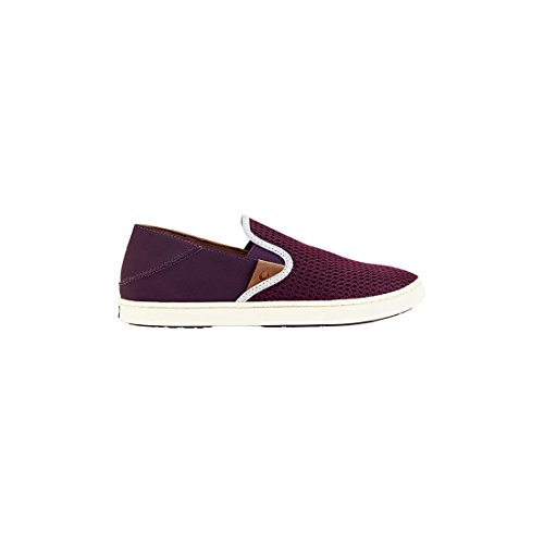 Olukai Woman Sneaker Pehuea Leather Clay Dark Plum/Dark Plum