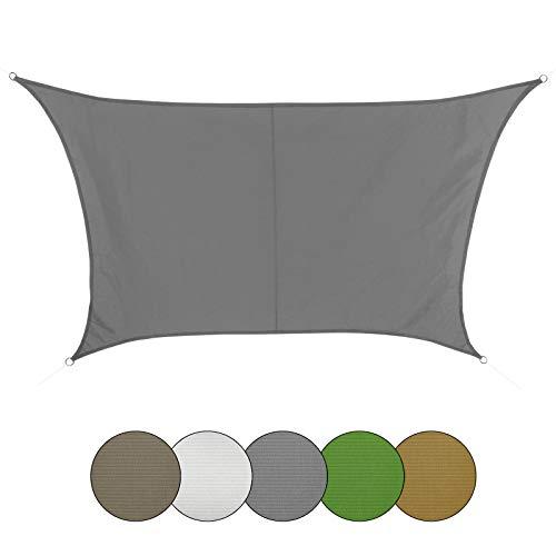 BB Sport Voile d'ombrage trapèze 100% Polyester [PES] en différentes Couleurs, Couleur:Granit, Taille:4m / 5m x 4m