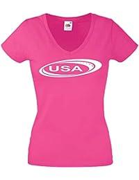 Ropa es Blusas Tops Mujer Camisetas Y Estados L Amazon Unidos z6wTcWq44d