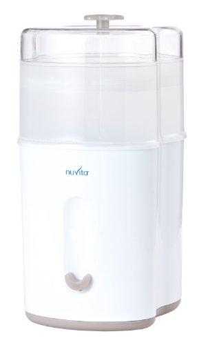 Nuvita 1082 - Sterilizzatore a Vapore Compatto - Igienizzante Elettrico Biberon - Fino a 5 Biberon, Tettarelle e Accessori - Ecologico - Senza BPA - Marchio UE - Design Italiano