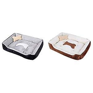 Blue-Yan Haustierbetten Hundehütte Katzenstreu Warm Season Four Pet Mat Pet Nest Bone Modelle für Hunde Katzen