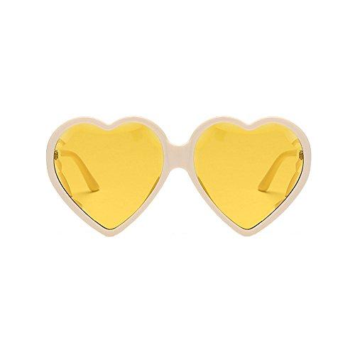 VRTUR Unisex Herz Form Sonnenbrille Sonnenbrillen Sonnen Brille Neonfarben Party favorisiert Brillen,Wählen Sie aus einer Vielzahl von Farben