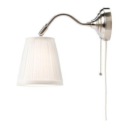 Ikea årstid Lampada Da Parete Nichelata 16 Cm Bianco