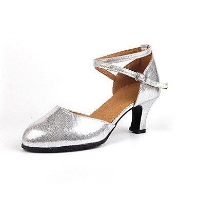 Wuyulunbi@ Donna Glitter spumanti Sneaker Indoor fibbia tacco basso Nero Oro Argento Rosso US6 / EU36 / UK4 / CN36