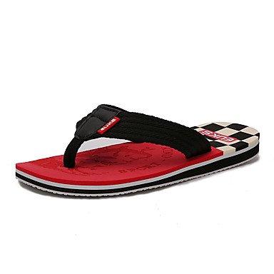 Slippers & amp da uomo;Primavera / estate / autunno Flip-Flopss FabricFlat Tallone giallo / rosso / arancione sandali US9.5 / EU42 / UK8.5 / CN43