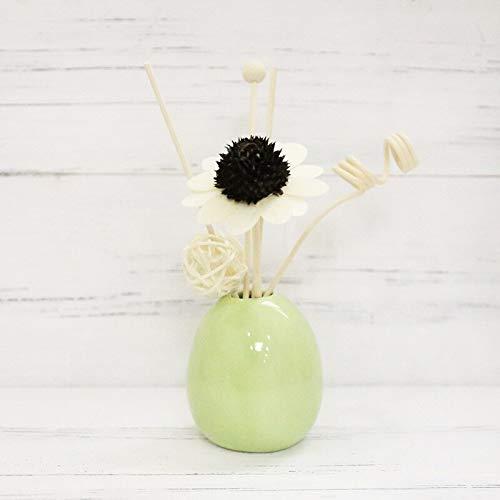 XMDNYE Keramik Flasche Rattan Aromatherapie Indoor getrocknete Blumen Ornament Parfüm Home Schlafzimmer Badezimmer rauchfreies ätherisches Öl Dekor Geschenk - Parfüm-flasche Sammlung