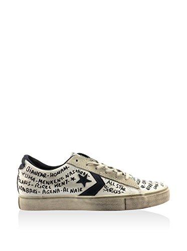 Converse Pro Leather Vulc Ox, Sneaker Basse Uomo Bianco/Grigio Chiaro/Nero
