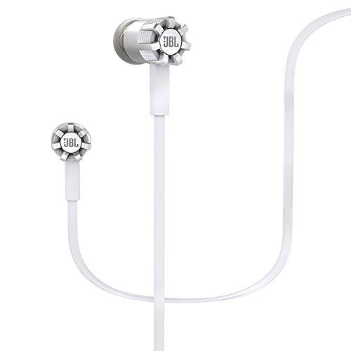 JBL Synchros S200A Premium Stereo In-Ear Kopfhörer (Universal 1-Taster-Fernbedienung/Mikrofon, PureBass Leistung, Inkl. Ersatz-Silikon-Ohrpassstücke/Etui, Kompatibel mit Android Geräten) weiß thumbnail
