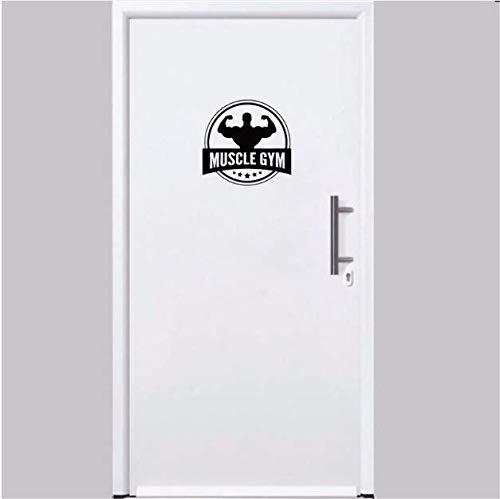 Chi Wall Sticker 23 * 22.1Cm Workout Bodybuilding Gewichte Trainingsraum Tür Aufkleber Wandaufkleber