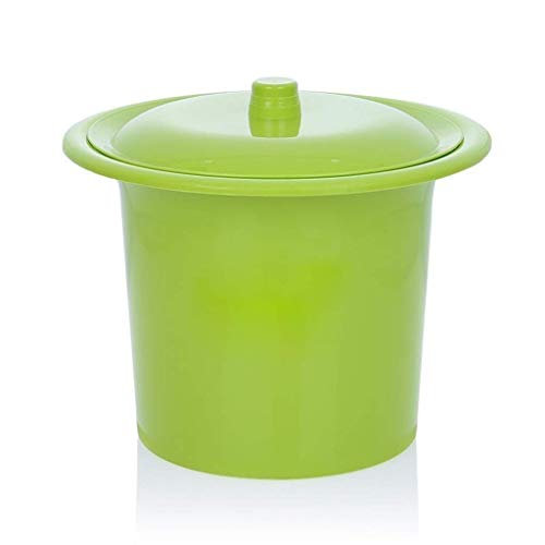 LSXLSD Kinder Urinale Spucknapf Chamberpot, Dicker Kunststoff Spucknapf, Urinale for Toilette Mit Deckel, Altes Kindertopf for Männer Und Frauen Zu Hause Eimer (Color : Green)