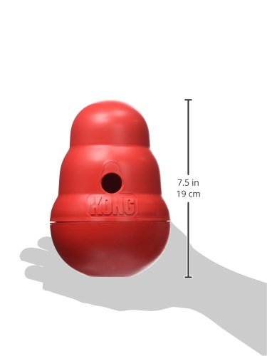 Kong 47522 Hundespielzeug Wobbler, befüllbar mit Snacks - 4