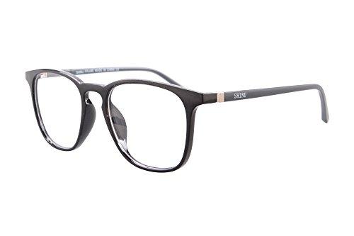 SHINU Progressive Multifocus Computer Hyperopie Brille Leichte Frauen Frame-SH073(C1.hoch +0.runter +1.75)