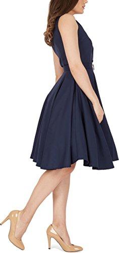 Black Butterfly 'Luna' Retro Clarity Kleid im 50er-Jahre-Stil (Nachtblau, EUR 44 – XL) - 2