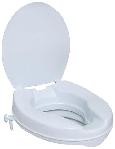 Toilettensitzerhöhung mit Deckel 5cm hoch