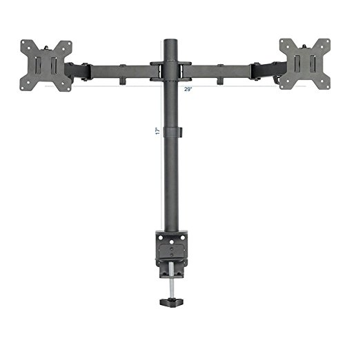 Tilt-swivel Stand (Masrou Dual Monitor LCD LED Screen Desk Monitor Mount, Arm Stands Double VESA TV computer Bracket for Twin 13