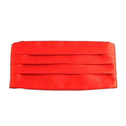 Zhuhaitf mode Men's Polyester Business Party Wedding Girdle Men's Accessory red