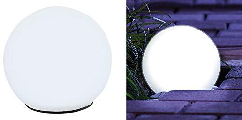 Lunartec Leuchtkugeln Garten: Solar-Glas-Leuchtkugel mit LEDs & Dämmerungsautomatik, Ø 9 cm (LED Leuchtkugeln) - Solarenergie-handy-fall
