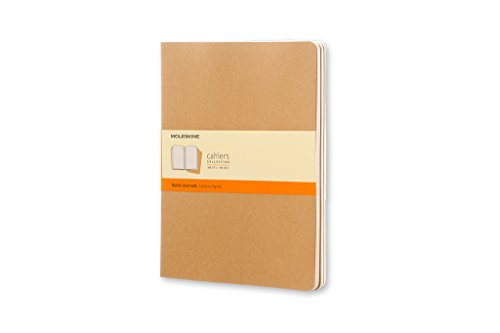 Moleskine Set 3 Quaderni Cahier Journal, a Righe, XL, Marrone