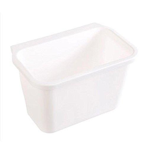 Ularma Küchenschrank Küchen hängen Müllsackständer Plastik Lagerung Hängeleiste Hängende Aufbewahrungsbox (weiß)