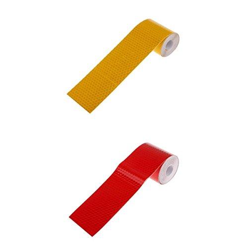 Pegatina Adhesiva Reflectante De Seguridad De 3 Metros Para Carro Rojo Naranja