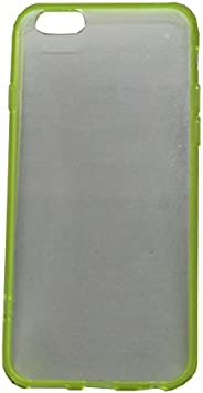 Brain Freezer Soft Silicone Slim Back Cover Cases Compatible with Compatible with iPhone 6 Green Clear