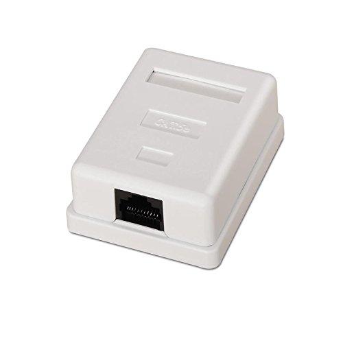 NanoCable 10.21.1501 - Roseta de superficie RJ45 con 1 toma de conexión Cat.6 UTP, blanco